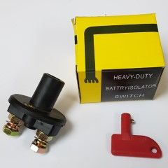 Battery Isolator with red key (100A Cont/500A Int) - Lockout switch for MT and pre-2017 DM