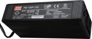 Battery Charger, 12v OLD STYLE Black, used in old DMs and MTs, PB-120N-13C
