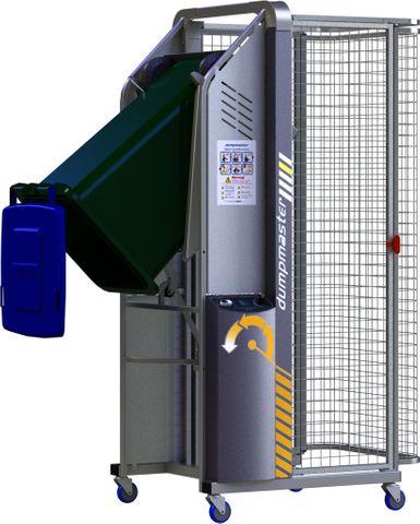 DM1200-B // Dumpmaster 1200mm bin lifter for 80L/120L/240L wheelie bins, 24V/21Ah battery