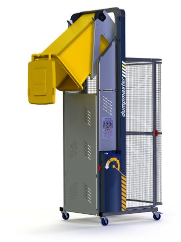 DM1800-B // Dumpmaster 1800mm bin lifter with EN840 baselift cradle, 250kg capcty & 24V/21Ah battery