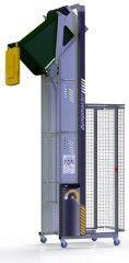 DM2400-B // Dumpmaster 2400mm bin lifter for 80L/120L/240L wheelie bins, 24V/21Ah battery