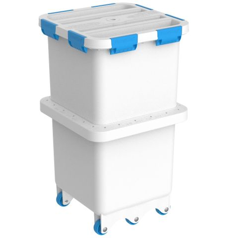 Foodcap FC180B - FoodCap ingredient-handling capsule with Blue clips and wheels