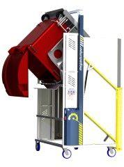 *MD600E-1500.B.C ) to tip 1100L & 660L & 2 x 240L Bins @ 1500mm. Battery hydraulic.