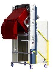 *MD600E-1800.B.C ) to tip 1100L & 660L & 2 x 240L Bins @ 1800mm. Battery hydraulic.