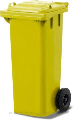 MGB080-CYY Complete Yellow/Yellow 80L Mobile Garbage Bin - Europlast