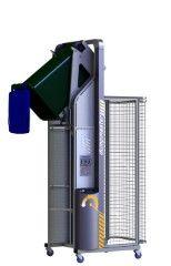 DM2100-B // Dumpmaster 2100mm bin lifter for 80L/120L/240L wheelie bins, 24V/21Ah battery