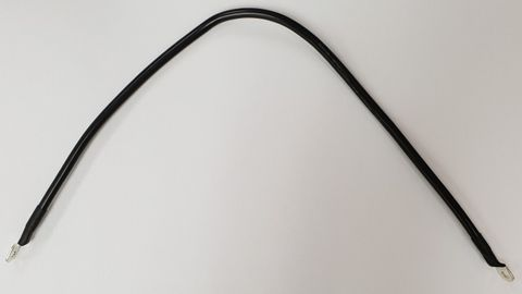Battery cable, black, 500mm, 2 x 6mm eye lugs