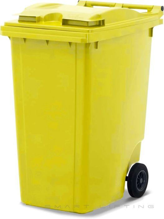 MGB360-CYY Complete Yellow/Yellow 360L Mobile Garbage Bin - Europlast
