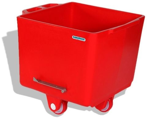 Flurobin FB200R - 200L DIN9797 Eurobin, Red, with triple-layer PE construction