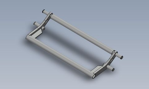 Double roller arm for 2.4m + tip height plated