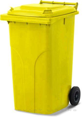 MGB240-CYY Complete Yellow/Yellow 240L Mobile Garbage Bin - Europlast