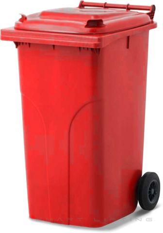 MGB240-CRR Complete Red/Red 240L Mobile Garbage Bin - Europlast
