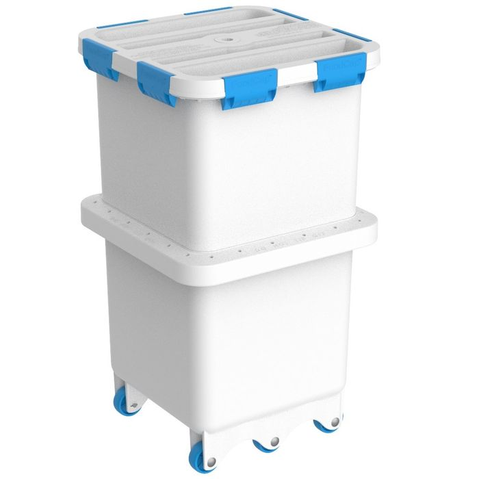 Foodcap FC180UTB - Ultratuff FoodCap ingredient-handling capsule with Blue clips and wheels