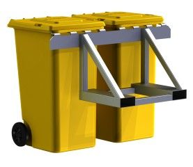 LorryMaster LM1100 - Bin transport frame for forklift with EN840 comb-hitch
