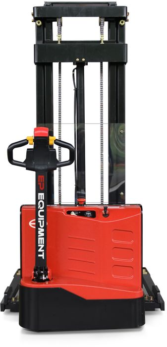 ES10-22DM-2500 - SME 1.0t electric walkie stacker with straddle outriggers and 2.5m lift