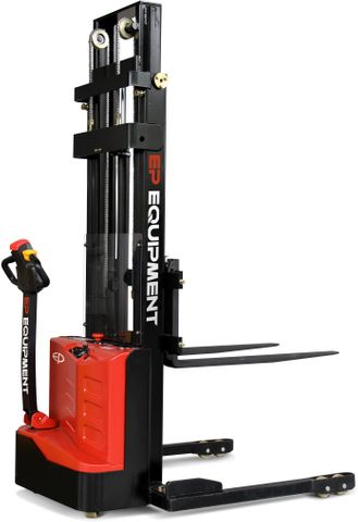 ES10-22DM-3000 - SME 1.0t electric walkie stacker with straddle outriggers and 3.0m lift