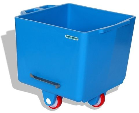 Flurobin FB200B - 200L DIN9797 Eurobin, Blue, with triple-layer PE construction