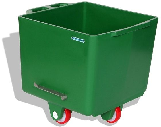 Flurobin FB200G - 200L DIN9797 Eurobin, Green, with triple-layer PE construction