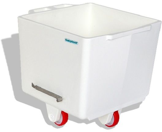 Flurobin FB200W - 200L DIN9797 Eurobin, White, with triple-layer PE construction