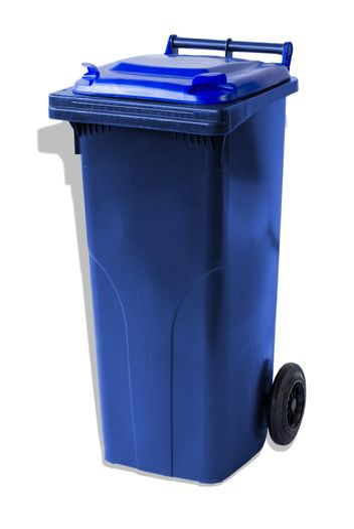 MGB120-CBB Complete Blue/Blue 120L Mobile Garbage Bin - Europlast