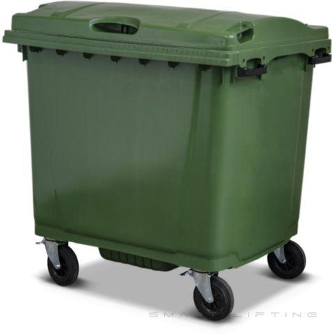 MGB1100-CGG Complete Green/Green 1100L Mobile Garbage Bin - Europlast