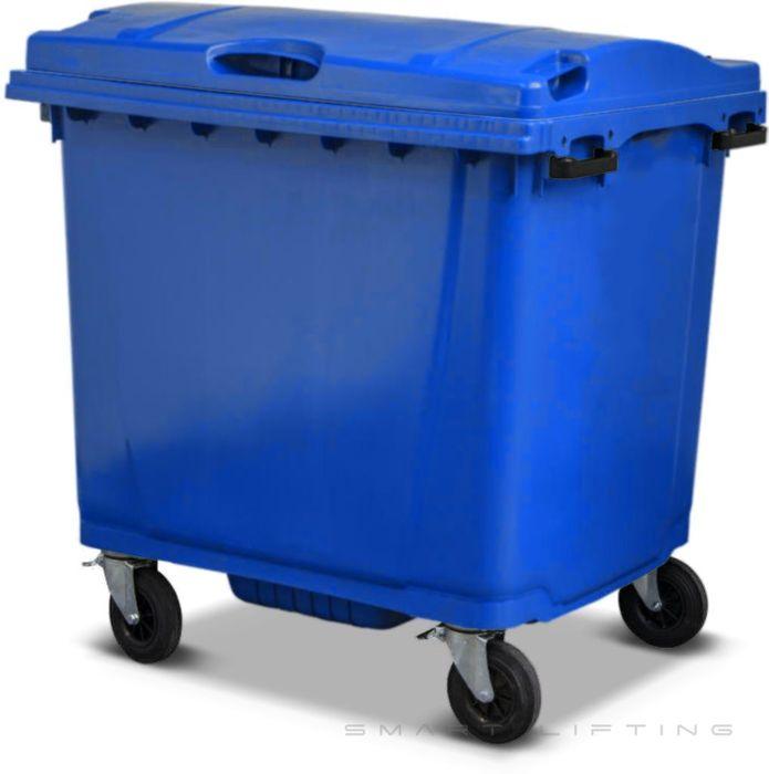 MGB1100-CBB Complete Blue/Blue 1100L Mobile Garbage Bin - Europlast