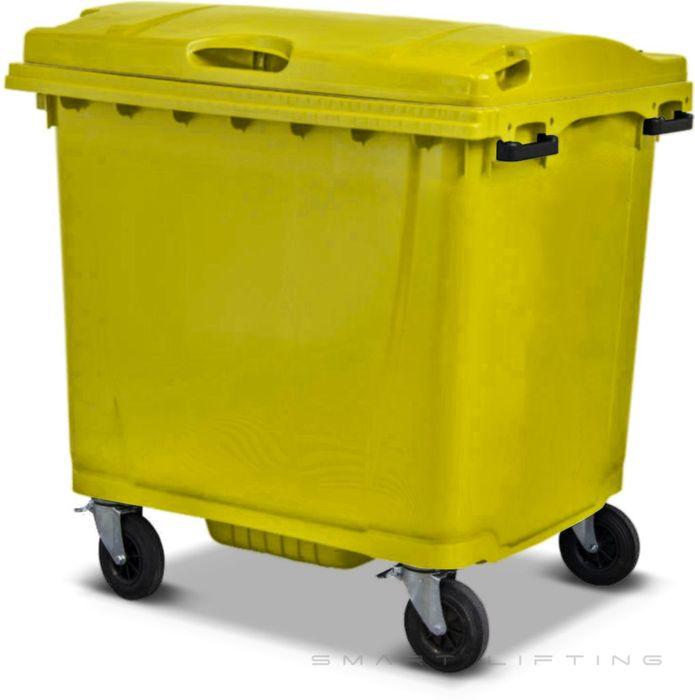 MGB1100-CYY Complete Yellow/Yellow 1100L Mobile Garbage Bin - Europlast