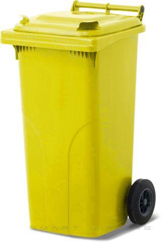 MGB120-CYY Complete Yellow/Yellow 120L Mobile Garbage Bin - Europlast
