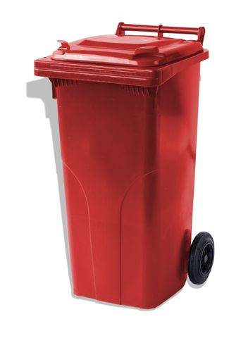 MGB120-CRR Complete Red/Red 120L Mobile Garbage Bin - Europlast