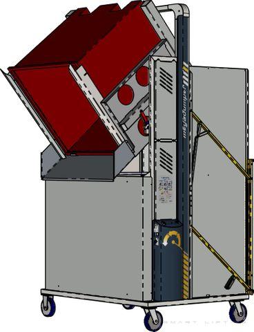 *MD600MB2-1500.B.C) to tip 1200x1200 Megabins @ 1500mm. Battery hydraulic. On Castors