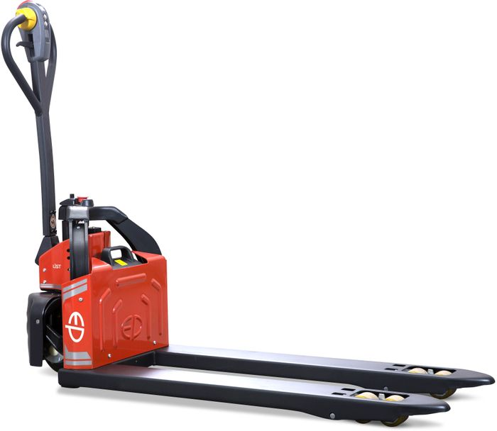 EPT12-EZ-BASE-W2 - Li-ion 1.2t powered pallet truck with plug&play battery (wide 2-way forks)