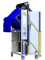 *MD600B-1200.3.C) to tip 660L and 2 x 240L Bins @ 1200mm. 3-ph hydraulic.