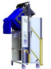 *MD600B-1800.B.C) to tip 660L and 2 x 240L Bins @ 1800mm. Battery hydraulic.