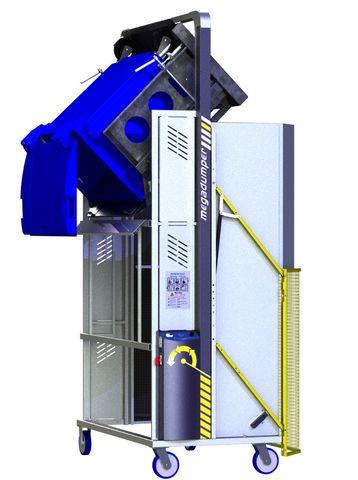 *MD600B-2100.B.C) to tip 660L and 2 x 240L Bins @ 2100mm. Battery hydraulic.