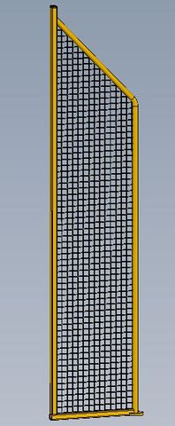 Complete mesh guard frame for MT 1750 x 282mm