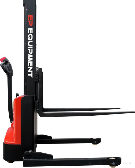ES10-22MM-1900 - SME 1.0t monomast electric walkie stacker with straddle outriggers and 1.9m lift