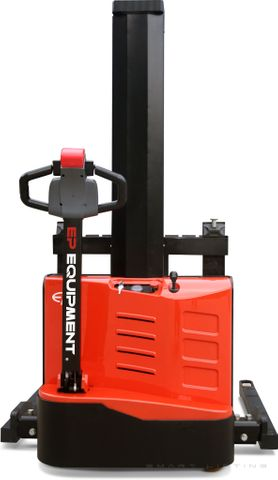 ES10-22MM-1600 // SME 1.0t monomast electric walkie stacker with straddle outriggers and 1.6m lift