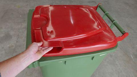 MGB240-CGR Complete Green/Red 240L Mobile Garbage Bin - Europlast
