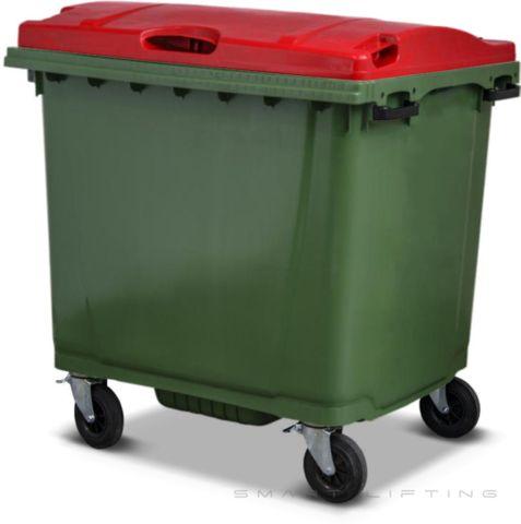 MGB1100-CGR Complete Green/Red 1100L Mobile Garbage Bin - Europlast