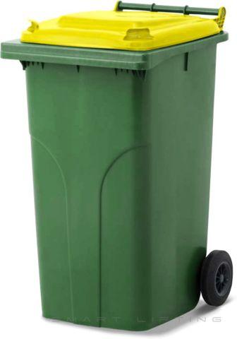 MGB240-CGY Complete Green/Yellow 240L Mobile Garbage Bin - Europlast