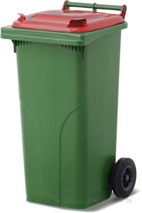 MGB120-CGR Complete Green/Red 120L Mobile Garbage Bin - Europlast