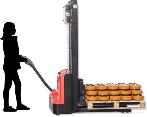 ES10-10ES-2000 - SME 1.0t walkie Europallet stacker with onboard charger & 2.0m lift