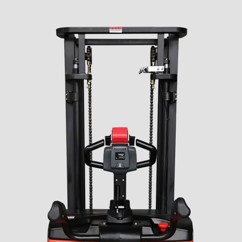 ES16-RSL-3000 - Li-ion 1.6t ride-on Europallet stacker with external charger & duplex 3.0m lift