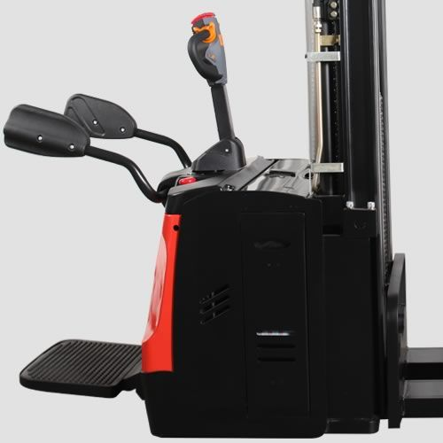 ES16-RSL-3600 - Li-ion 1.6t ride-on Europallet stacker with external charger & duplex 3.6m lift