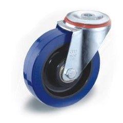 Castor, 125mm, ZP frame, Resilex wheel, no brake