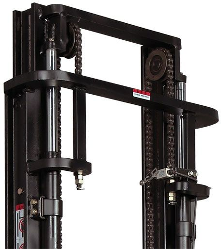 ES20-20RAS-3600 - Pro 2.0t ride-on Europallet stacker with external charger & duplex 3.6m lift