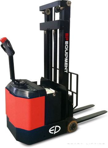 ES06-CA-2400 - Pro 0.6t counterbalance walkie stacker with legless design and 2.4m duplex lift
