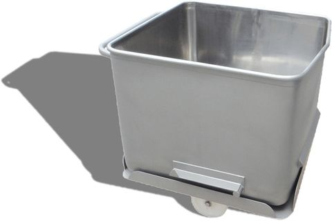 Eurobin 200l Stainless-steel meat cart - No Wheels, Complete with Base(304 grade)