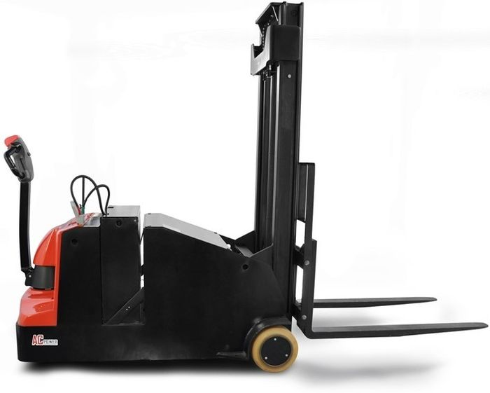 ES10-10CA-4500 - Pro 1.0t counterbalance walkie stacker with legless design and 4.5m triplex lift