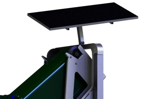 Solar panel kit for Dumpmaster, 80W/24V, mounted in adjustable steel frame and controller